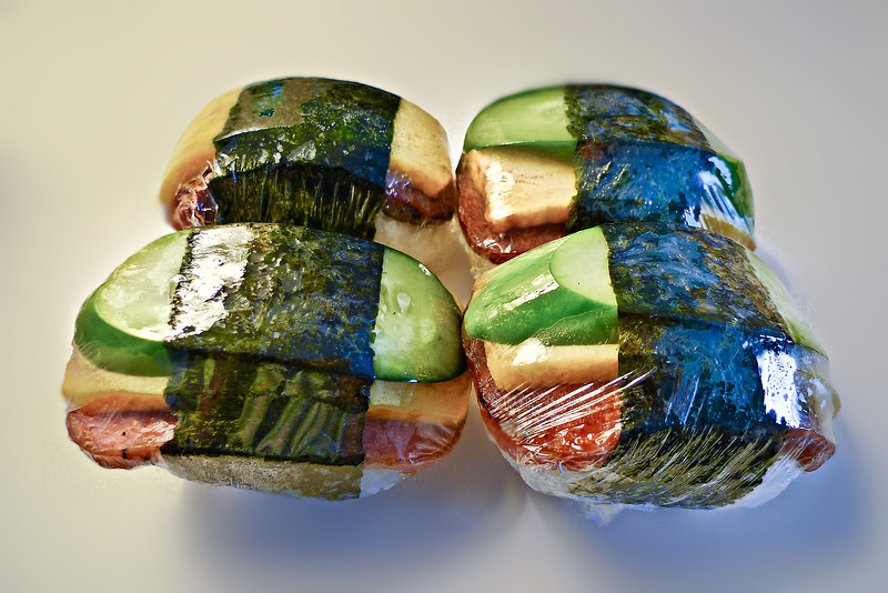 Egg Cucumber Spam Musubi