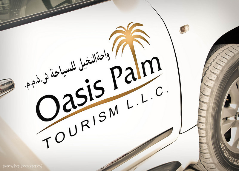 Oasis Palm jeep used for desert safari in Dubai