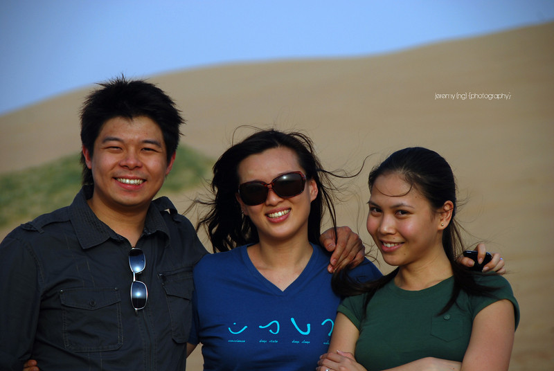 Picture of ourselves and a friend at the desert