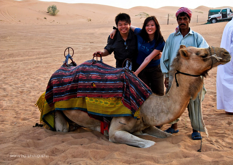 Picture of us and the camel we rode.