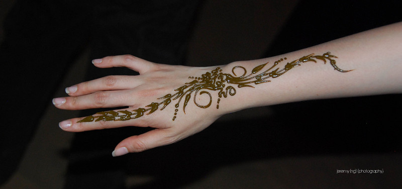 Picture of the henna on my hand.