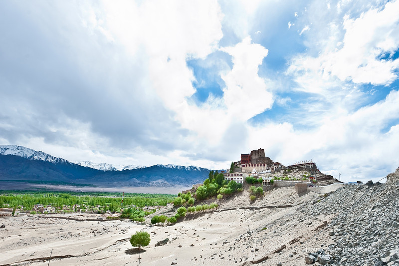 Thiksey Monastery from afar